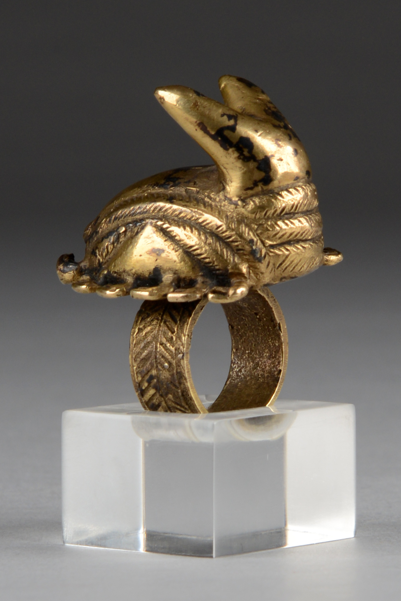 Chief's ring with scorpion
