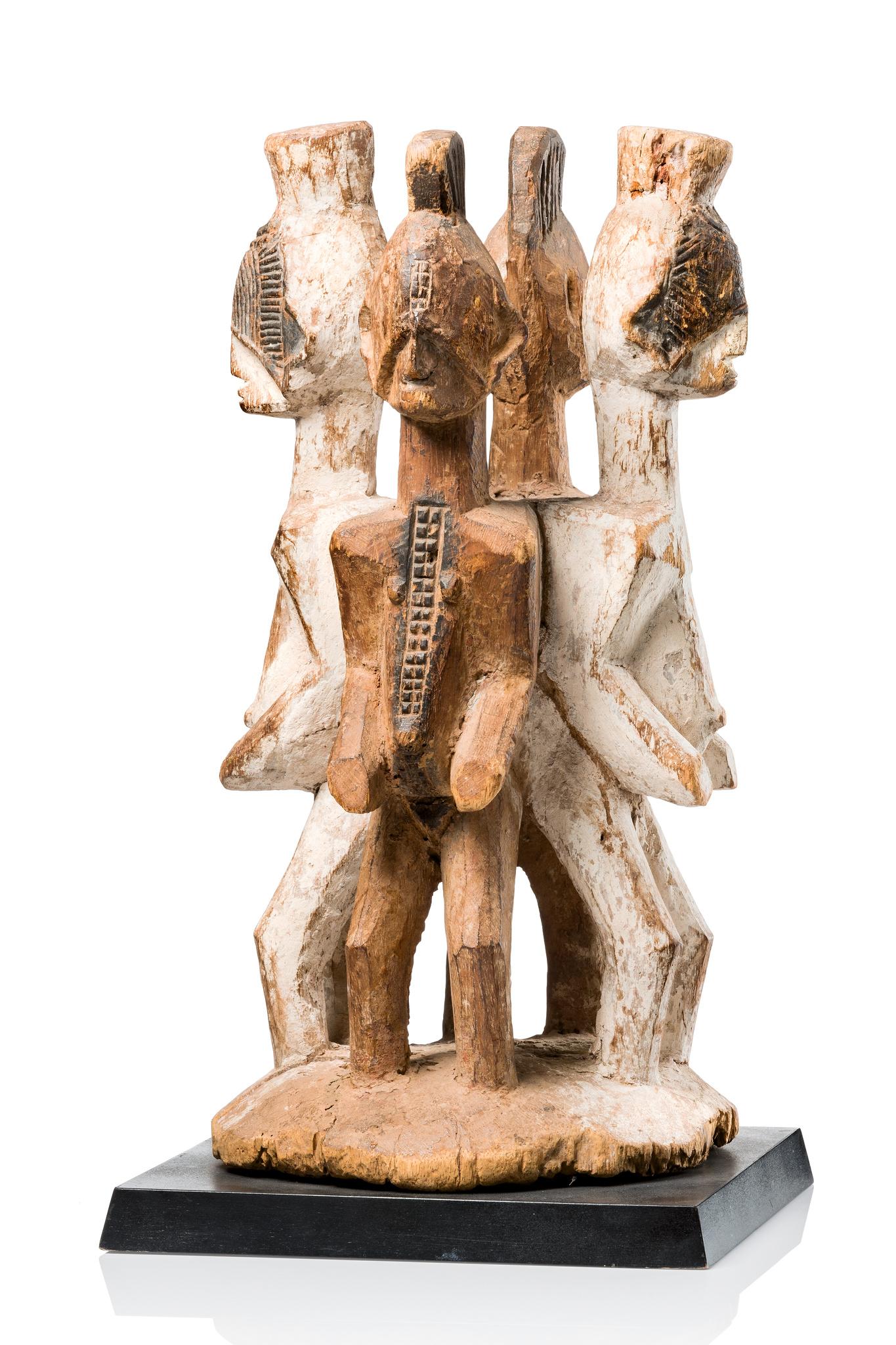 Four-figured shrine sculpture