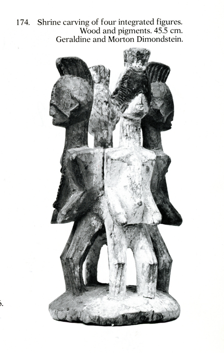 Four-figured shrine sculpture