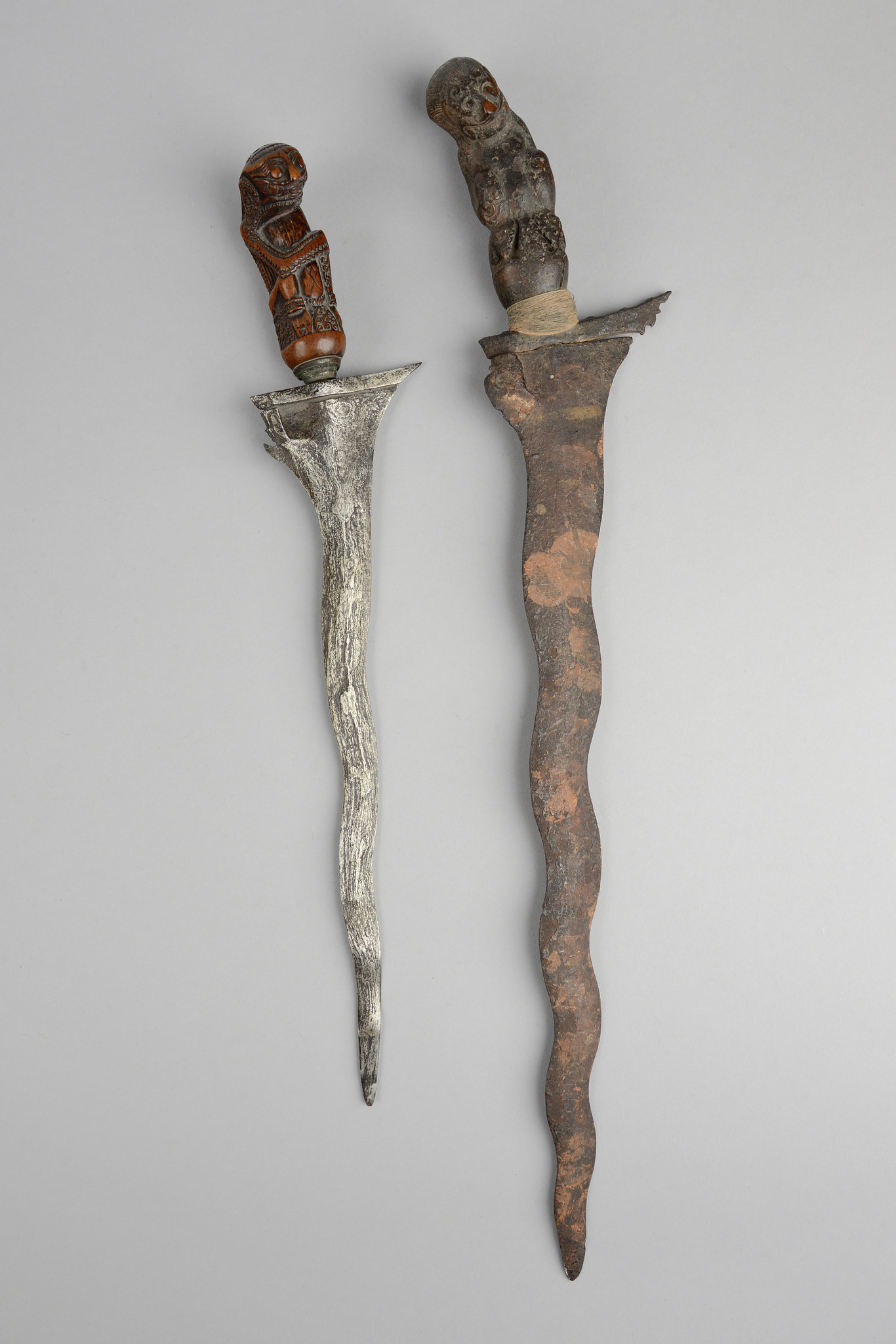 "Two ceremonial daggers ""kris"" (""keris"")"