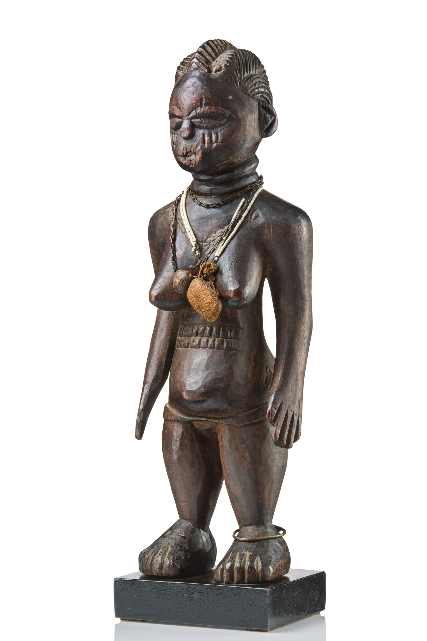 Female figure with magical appendages