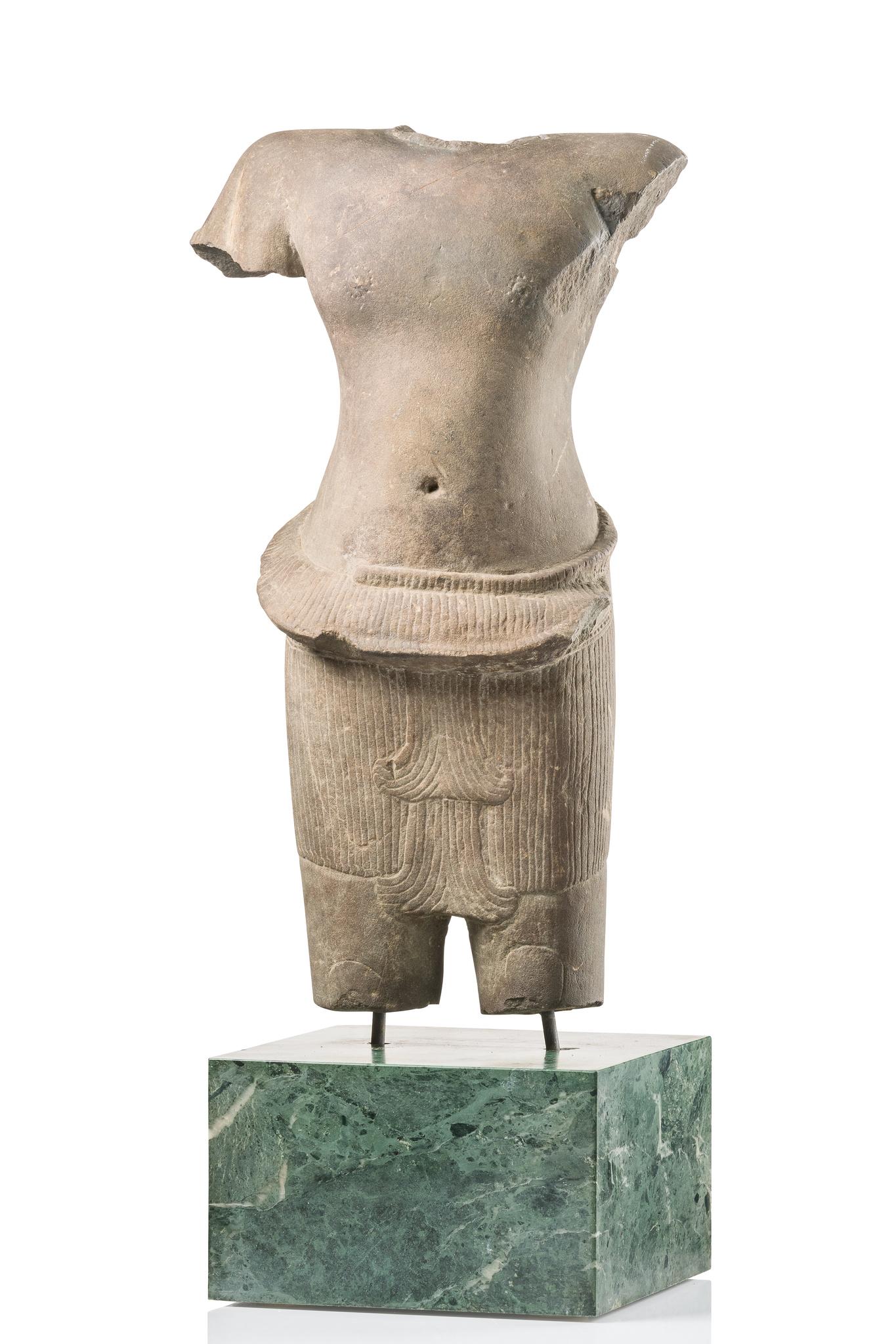 "Figural Torso of ""Vishnu"", Angkor period, 12th century"