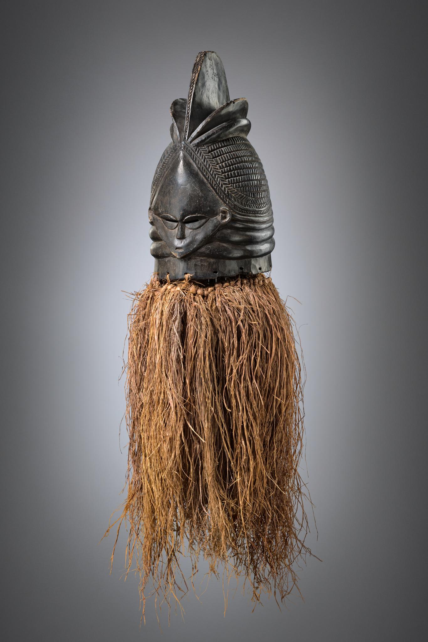 "Janus-faced helmet mask ""ndoli jowei"" of the ""sande"" (or ""bundu"") society"