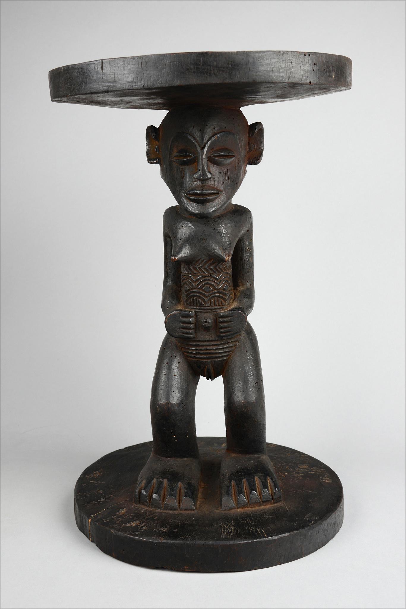 Chief's stool with female caryatid figure