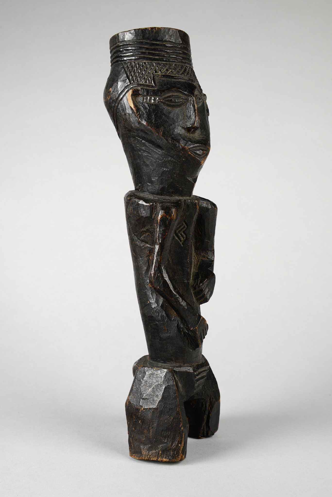 Figural palm wine cup
