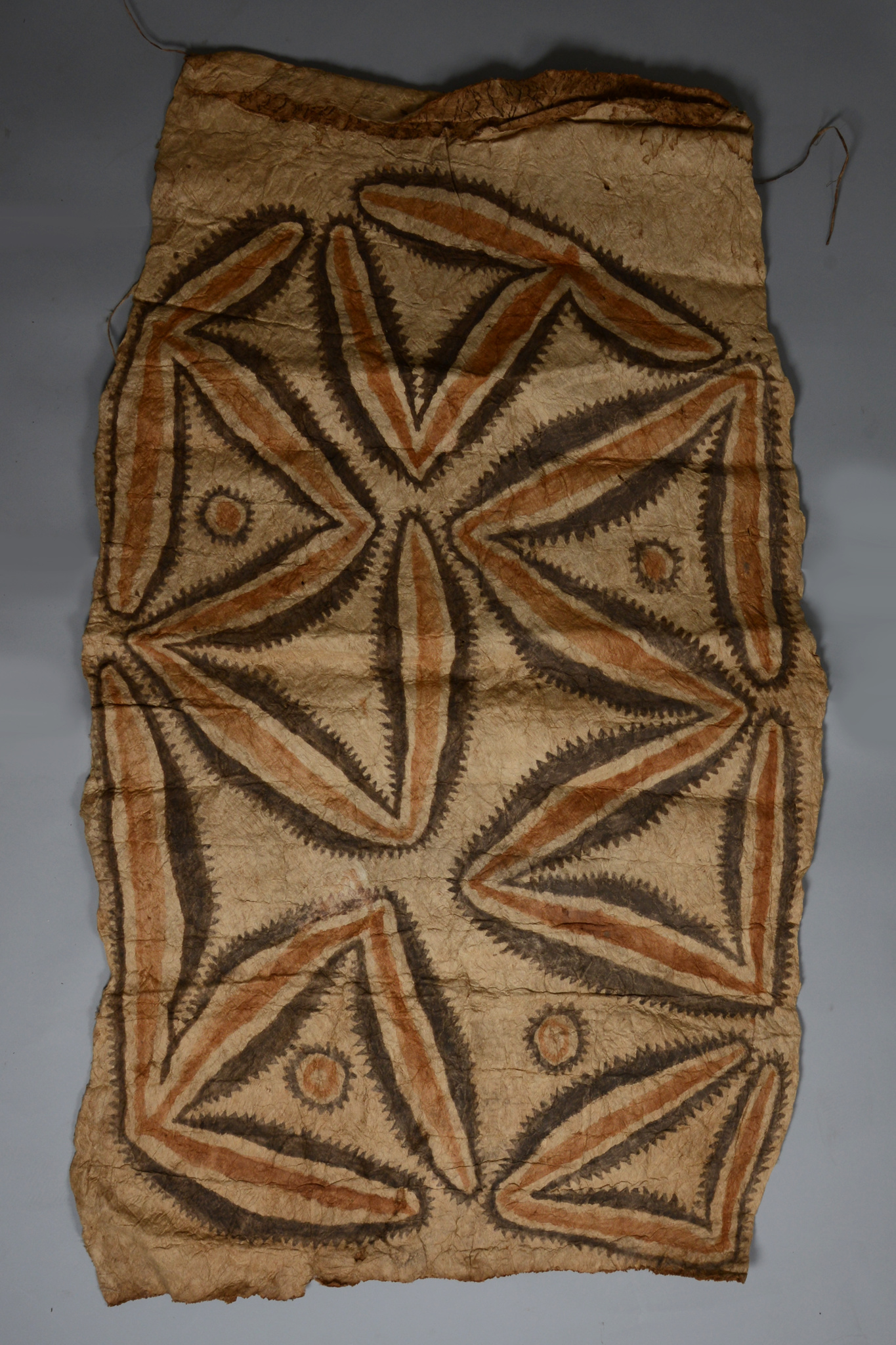 "Two bark cloth ""tapa"""