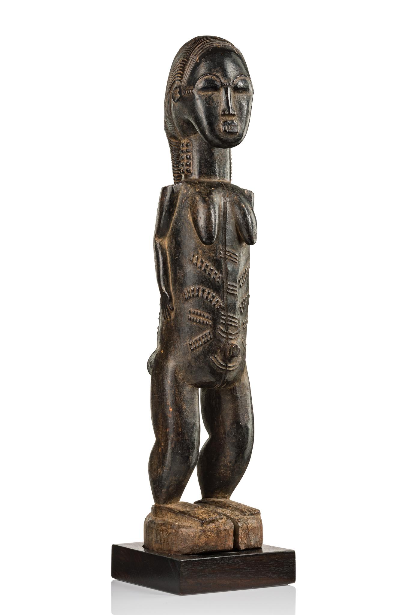 "Figure of a spirit wife ""blolo bla"", 19th/20th century"