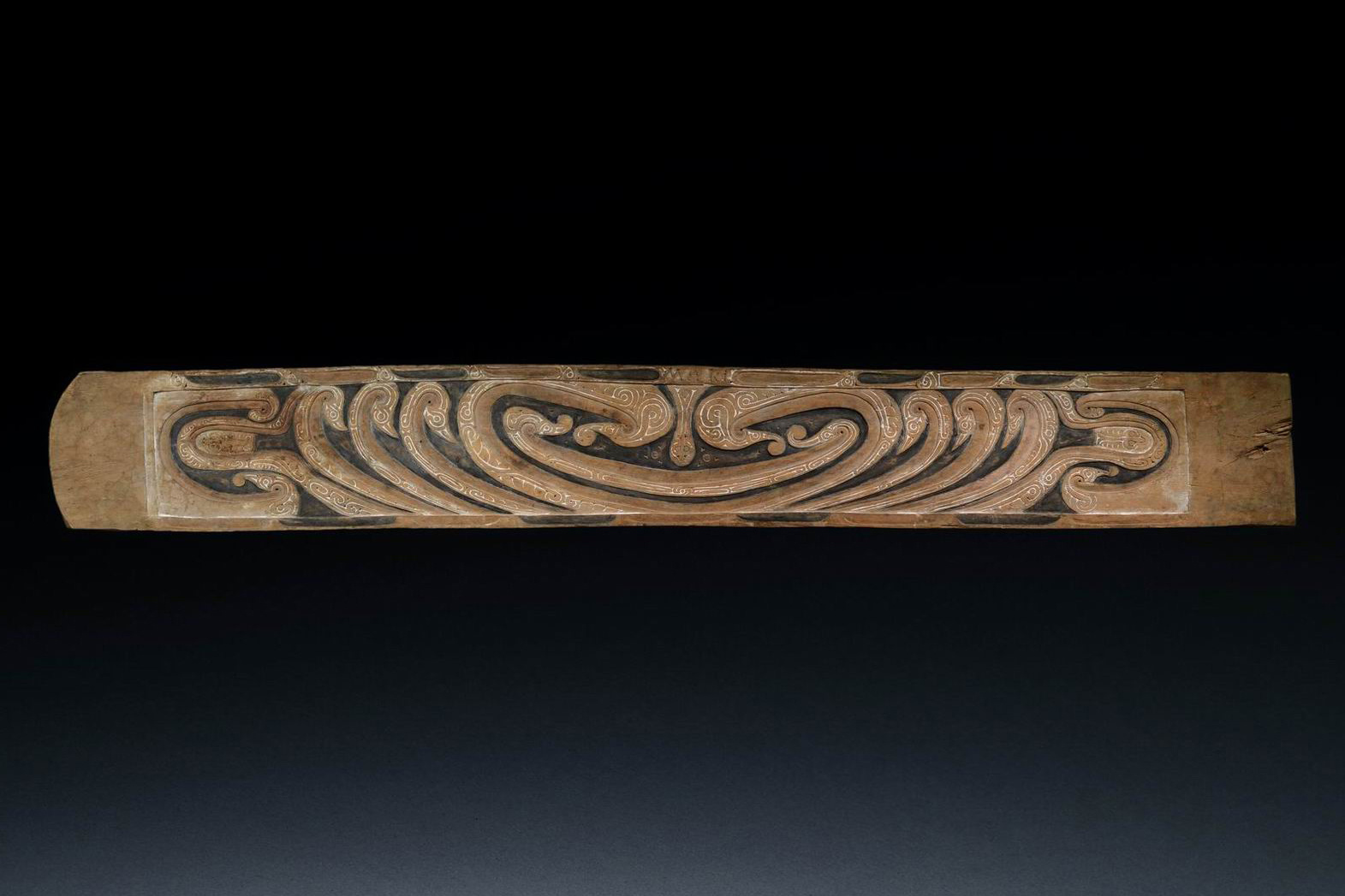 Lintel board for chiefly dwelling or yam store