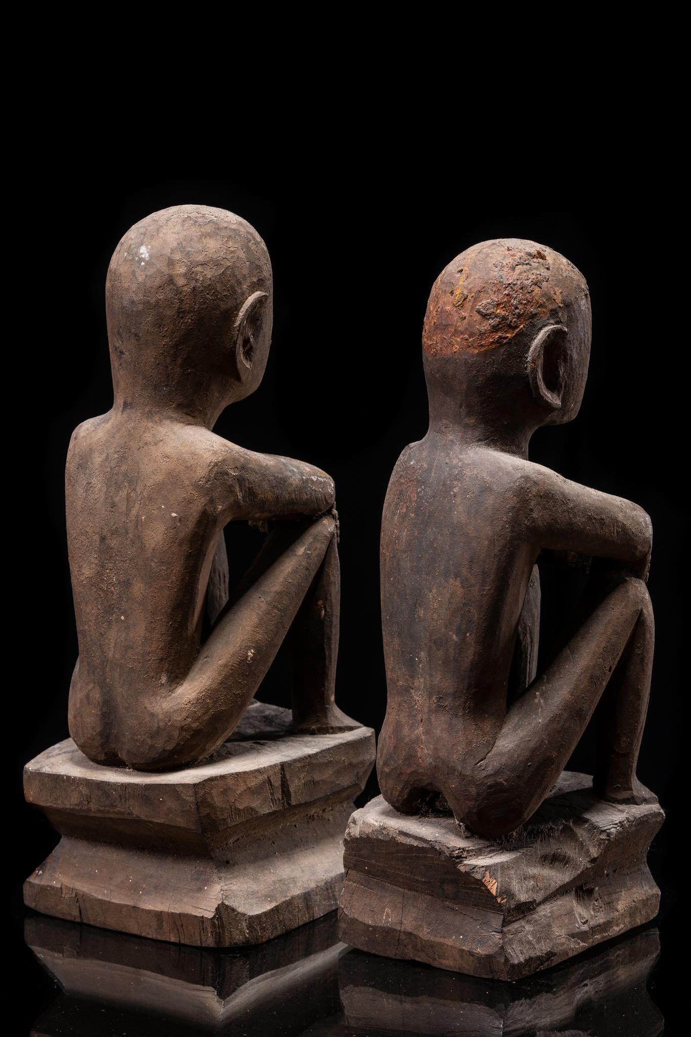 """Pair of ritual deities """"bulul"""", around 1930"""