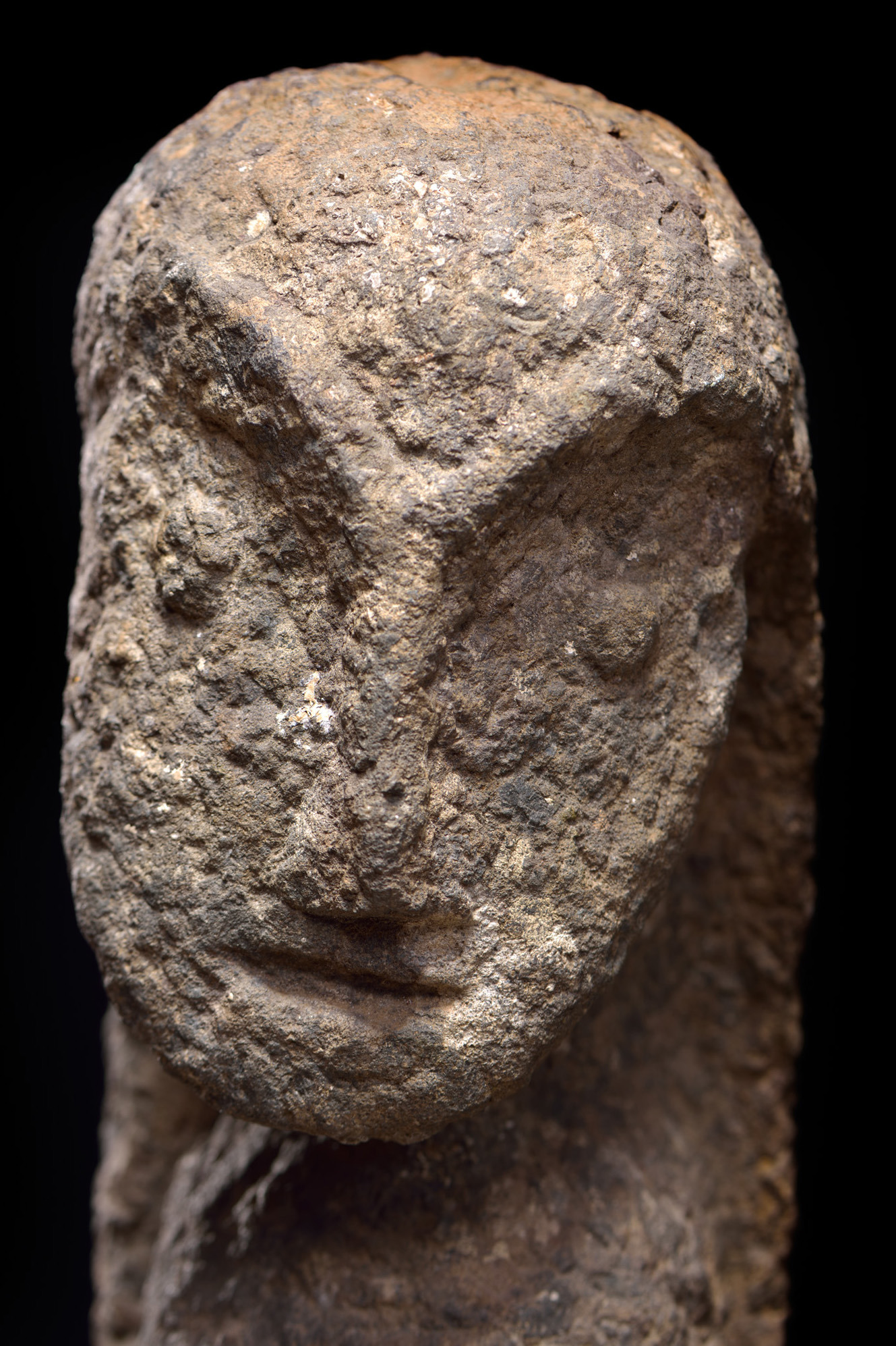 Anthropomorphic stone sculpture, 19th or early 20th century
