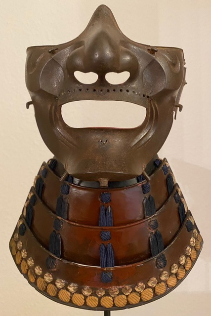 "Face mask ""menpo"" and throat guard ""yodare kake"", Edo period"