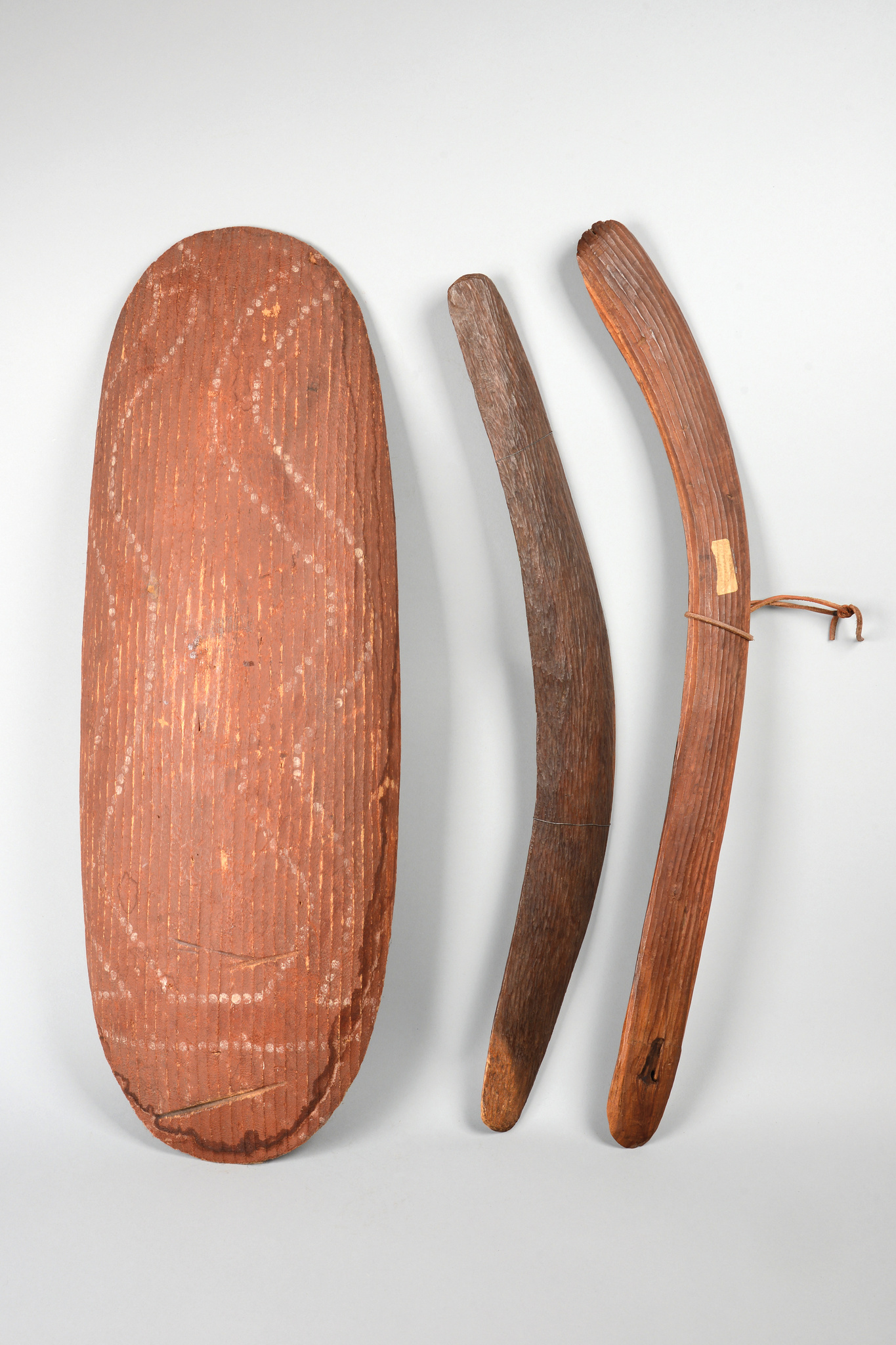 Shield and two boomerangs
