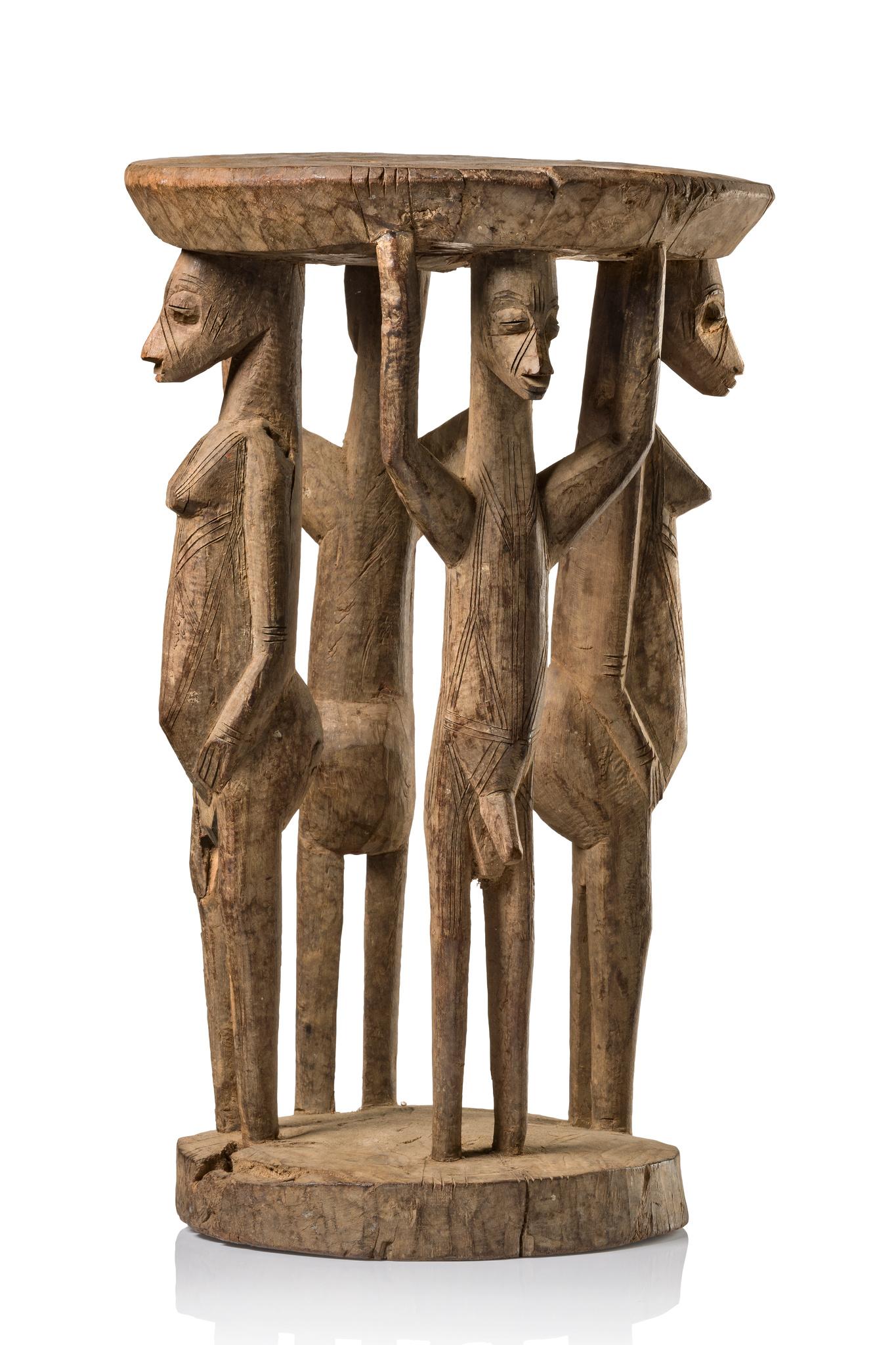 Very rare figural stool