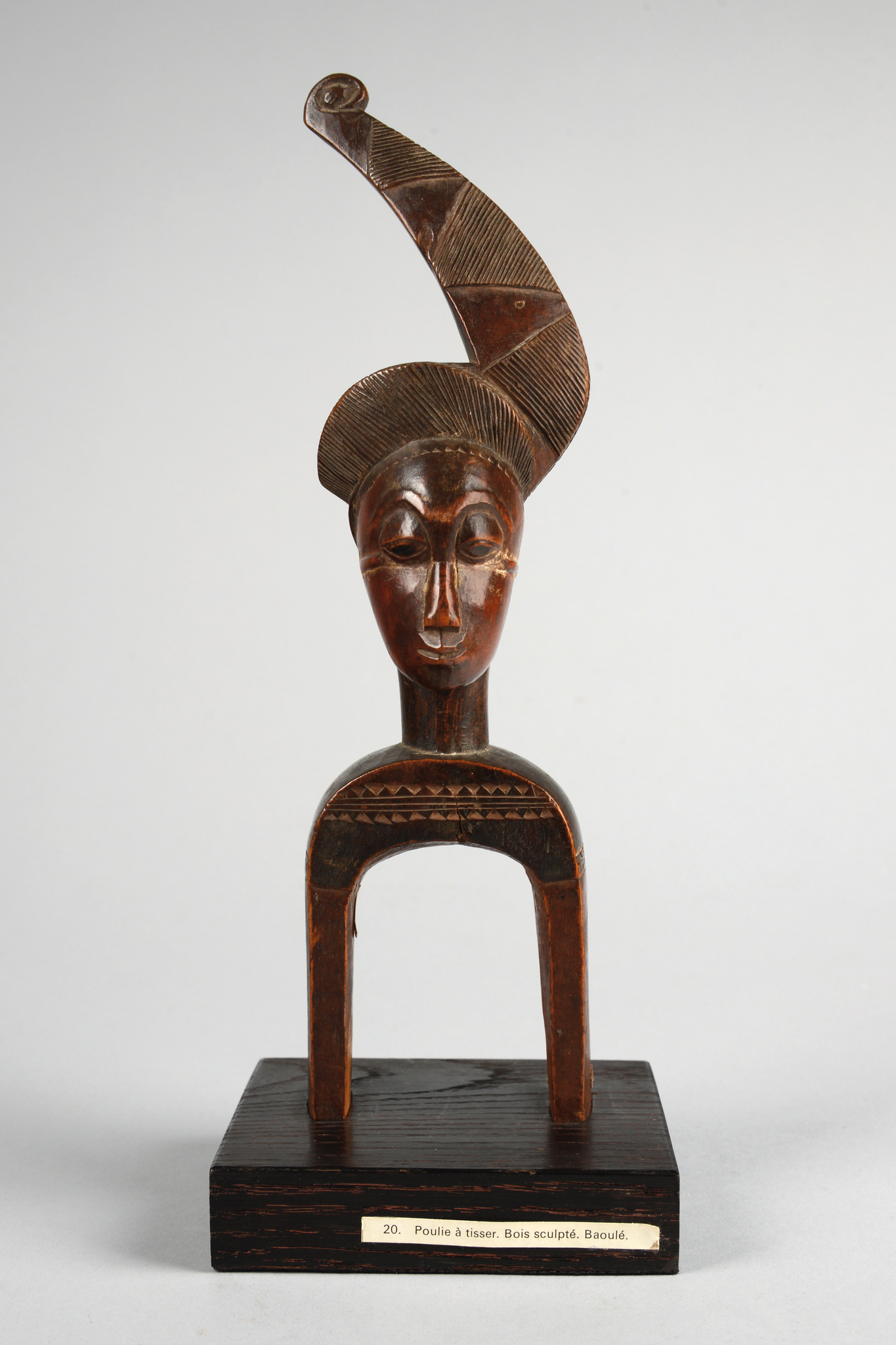 """Excellent heddle pulley with anthropomorphic head """"konantre"""""""