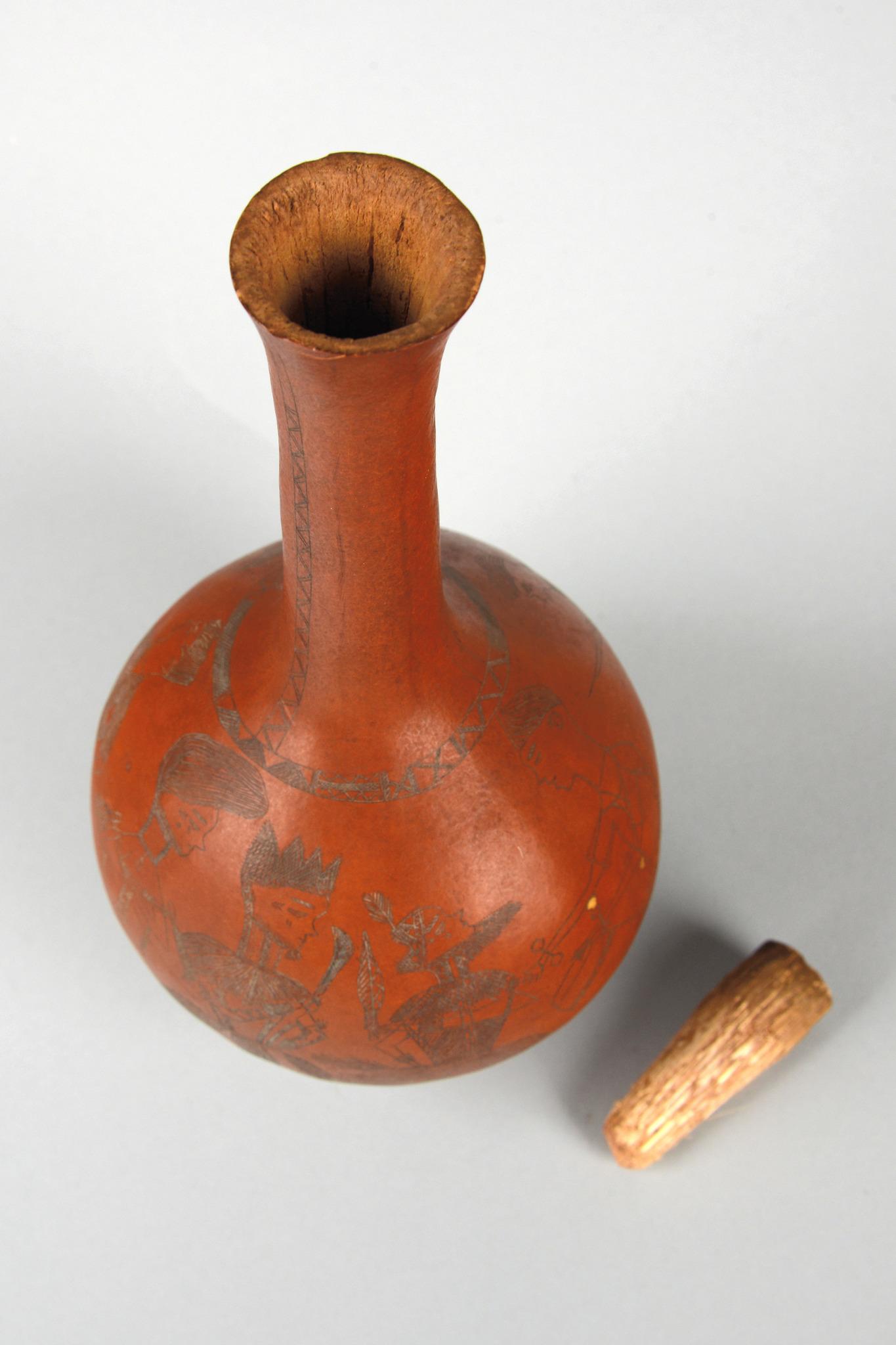 Artistically engraved calabash
