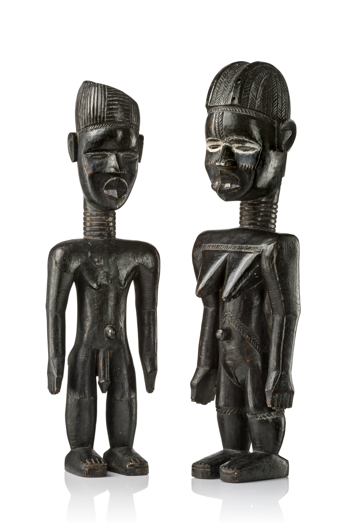 "Pair of figures ""lü mä"""