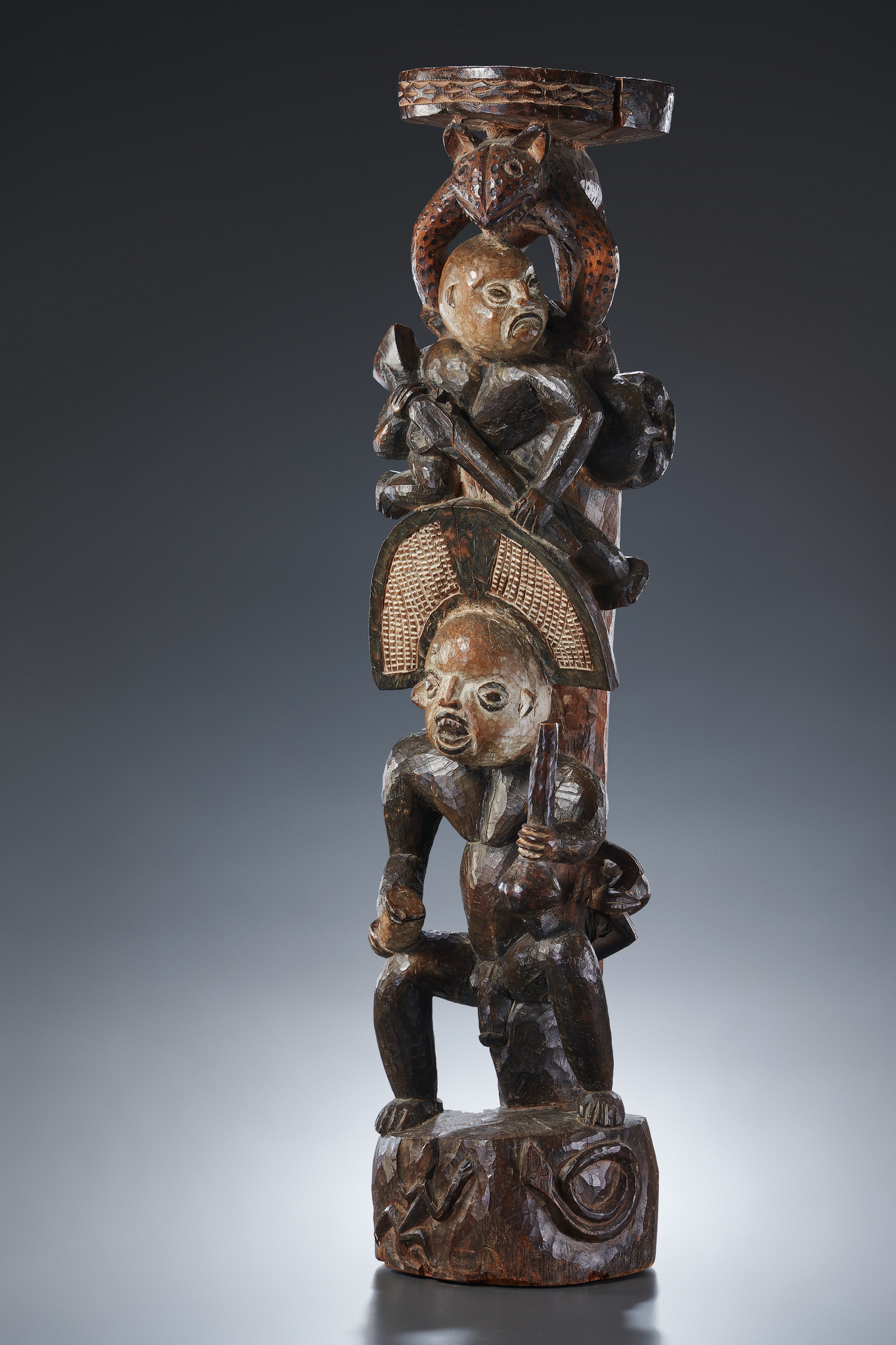 Figural carved support / post, around 1900