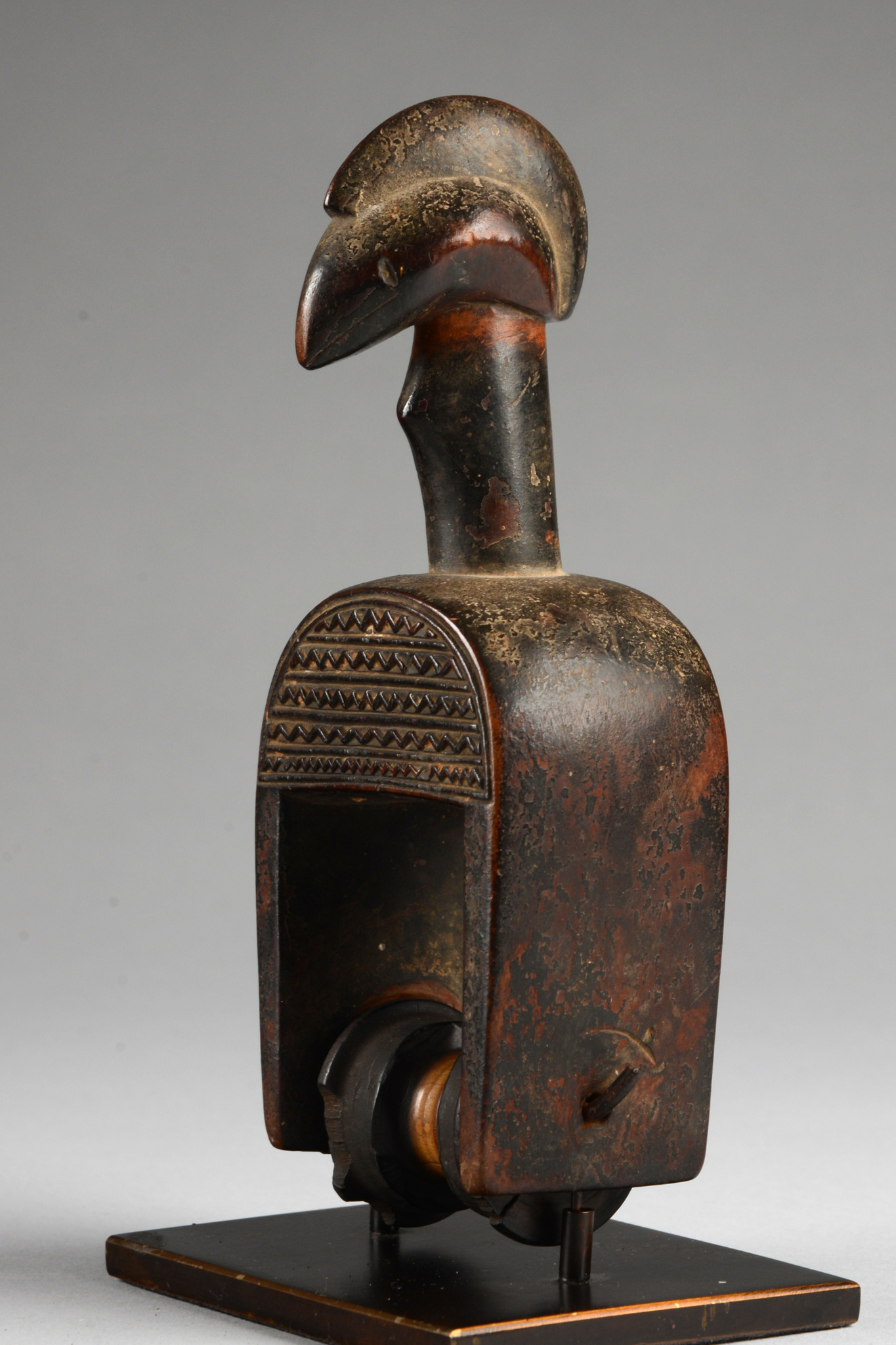 """Heddle pulley with bird head """"kwora-ti-kotolo"""""""