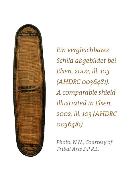 Rare wicker shield, 19th century